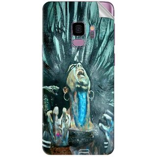 Snooky Printed Lord Shiva Anger Pvc Vinyl Mobile Skin Sticker For Samsung Galaxy S9 Plus
