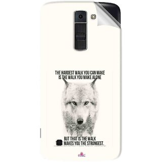 Snooky Printed lone wolf Pvc Vinyl Mobile Skin Sticker For LG K7