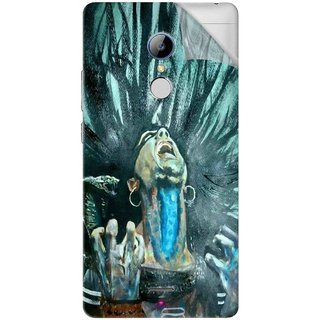 Snooky Printed Lord Shiva Anger Pvc Vinyl Mobile Skin Sticker For LYF Water 7