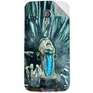 Snooky Printed Lord Shiva Anger Pvc Vinyl Mobile Skin Sticker For Moto G2