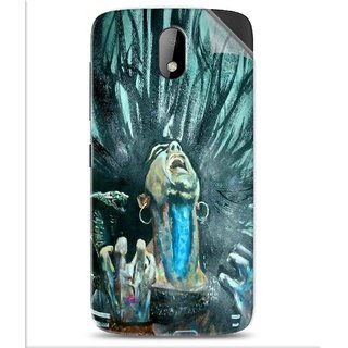 Snooky Printed Lord Shiva Anger Pvc Vinyl Mobile Skin Sticker For Htc Desire 326