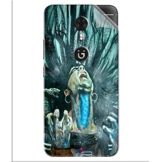 Snooky Printed Lord Shiva Anger Pvc Vinyl Mobile Skin Sticker For Gionee A1
