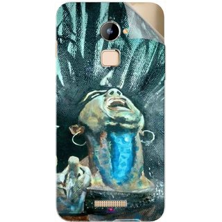 Snooky Printed Lord Shiva Anger Pvc Vinyl Mobile Skin Sticker For Coolpad Note 3 Lite