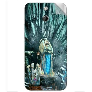 Snooky Printed Lord Shiva Anger Pvc Vinyl Mobile Skin Sticker For Htc One E8