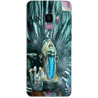 Snooky Printed Lord Shiva Anger Pvc Vinyl Mobile Skin Sticker For Samsung Galaxy S9