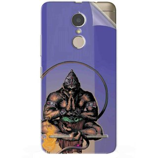Snooky Printed Lord Hanuman Ji bhagvan bala ji maharaj Pvc Vinyl Mobile Skin Sticker For Lenovo K6 Power