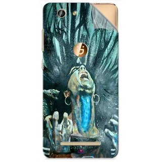 Snooky Printed Lord Shiva Anger Pvc Vinyl Mobile Skin Sticker For Gionee F103 Pro
