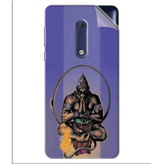 Snooky Printed Lord Hanuman Ji bhagvan bala ji maharaj Pvc Vinyl Mobile Skin Sticker For Nokia 5