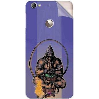 Snooky Printed Lord Hanuman Ji bhagvan bala ji maharaj Pvc Vinyl Mobile Skin Sticker For Letv Le 1S