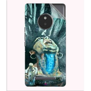 Snooky Printed Lord Shiva Anger Pvc Vinyl Mobile Skin Sticker For Micromax Yu Yunique