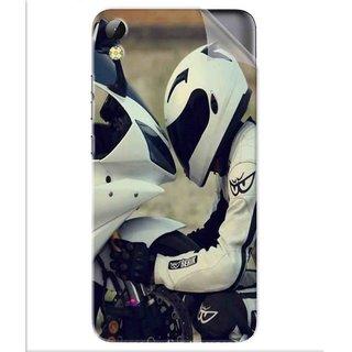 Snooky Printed motorcycle lover Pvc Vinyl Mobile Skin Sticker For Tecno i3