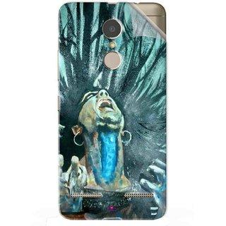 Snooky Printed Lord Shiva Anger Pvc Vinyl Mobile Skin Sticker For Lenovo K6 Power