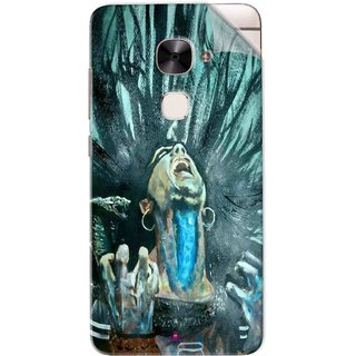 Snooky Printed Lord Shiva Anger Pvc Vinyl Mobile Skin Sticker For Letv Le 2