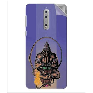 Snooky Printed Lord Hanuman Ji bhagvan bala ji maharaj Pvc Vinyl Mobile Skin Sticker For Nokia 8