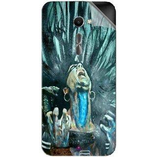 Snooky Printed Lord Shiva Anger Pvc Vinyl Mobile Skin Sticker For Asus Zenfone 2 Laser ZE500CL
