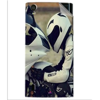 Snooky Printed motorcycle lover Pvc Vinyl Mobile Skin Sticker For Vivo Y15