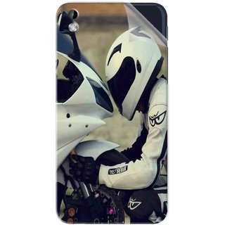 Snooky Printed motorcycle lover Pvc Vinyl Mobile Skin Sticker For HTC Desire 816
