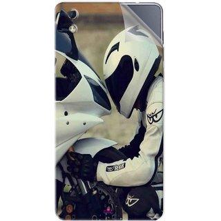 Snooky Printed motorcycle lover Pvc Vinyl Mobile Skin Sticker For LYF water 1