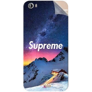 Snooky Printed Mountain Supreme Pvc Vinyl Mobile Skin Sticker For Intex Aqua Turbo 4G
