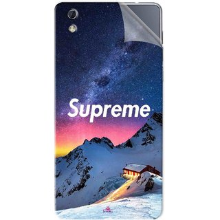 Snooky Printed Mountain Supreme Pvc Vinyl Mobile Skin Sticker For LYF water 1