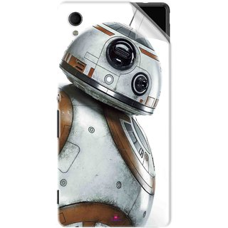 Snooky Printed Movie Star Wars Episode VII Pvc Vinyl Mobile Skin Sticker For Sony Xperia M4