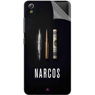 Snooky Printed Narcos Bullet Pvc Vinyl Mobile Skin Sticker For Gionee Pioneer P5W