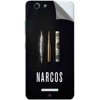 Snooky Printed Narcos Bullet Pvc Vinyl Mobile Skin Sticker For Gionee S Plus