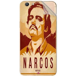Snooky Printed Narcos Pvc Vinyl Mobile Skin Sticker For Oppo F1s