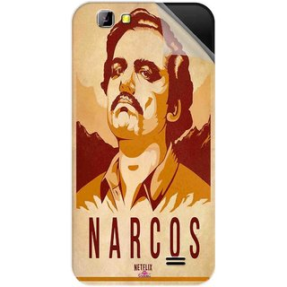 Snooky Printed Narcos Pvc Vinyl Mobile Skin Sticker For LYF Wind 5