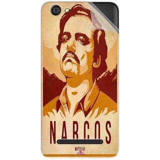 Snooky Printed Narcos Pvc Vinyl Mobile Skin Sticker For LYF Wind 6