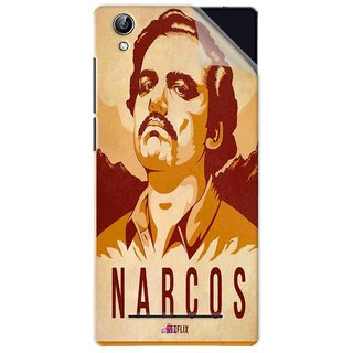 Snooky Printed Narcos Pvc Vinyl Mobile Skin Sticker For Vivo Y51L