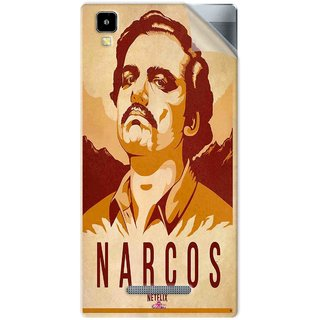 Snooky Printed Narcos Pvc Vinyl Mobile Skin Sticker For Panasonic Eluga A2