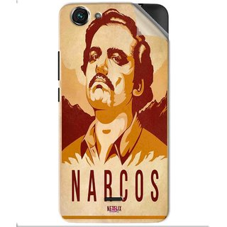Snooky Printed Narcos Pvc Vinyl Mobile Skin Sticker For Micromax Bolt Q338