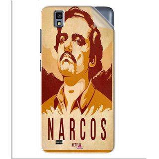 Snooky Printed Narcos Pvc Vinyl Mobile Skin Sticker For Gionee Pioneer P2M