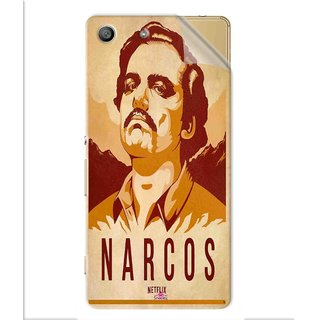 Snooky Printed Narcos Pvc Vinyl Mobile Skin Sticker For Sony Xperia M5