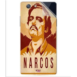 Snooky Printed Narcos Pvc Vinyl Mobile Skin Sticker For Oppo A31T