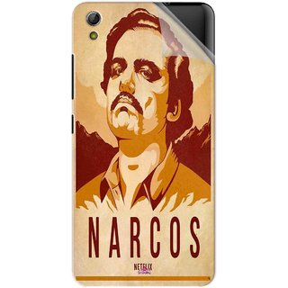 Snooky Printed Narcos Pvc Vinyl Mobile Skin Sticker For Gionee Pioneer P5W