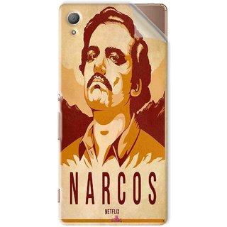 Snooky Printed Narcos Pvc Vinyl Mobile Skin Sticker For Sony Xperia Z4