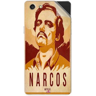 Snooky Printed Narcos Pvc Vinyl Mobile Skin Sticker For Oppo A33T