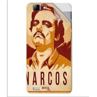 Snooky Printed Narcos Pvc Vinyl Mobile Skin Sticker For Vivo V1