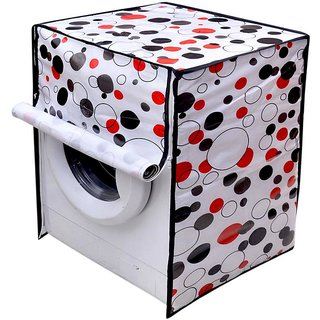 The Intellect Bazaar PVC Waterproof Washing Machine Cover for fully Automatic Machine, White