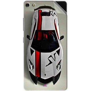 Snooky Printed sports cars and bikes Pvc Vinyl Mobile Skin Sticker For Gionee Elife S7