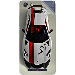 Snooky Printed sports cars and bikes Pvc Vinyl Mobile Skin Sticker For Gionee Marathon M5