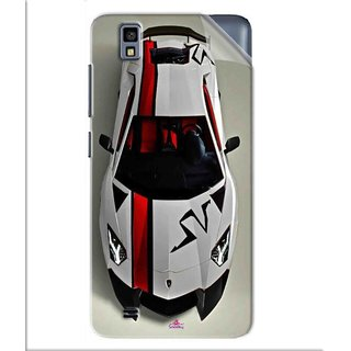 Snooky Printed sports cars and bikes Pvc Vinyl Mobile Skin Sticker For Gionee Pioneer P2M