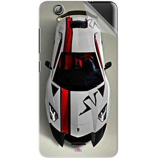 Snooky Printed sports cars and bikes Pvc Vinyl Mobile Skin Sticker For Gionee Pioneer P5 mini