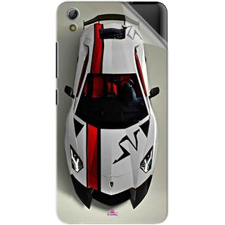 Snooky Printed sports cars and bikes Pvc Vinyl Mobile Skin Sticker For Gionee Pioneer P6
