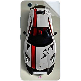 Snooky Printed sports cars and bikes Pvc Vinyl Mobile Skin Sticker For Gionee S Plus