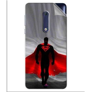 Snooky Printed Super Man Pvc Vinyl Mobile Skin Sticker For Nokia 5
