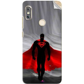 Snooky Printed Super Man Pvc Vinyl Mobile Skin Sticker For Xiaomi Redmi Note 5 Pro