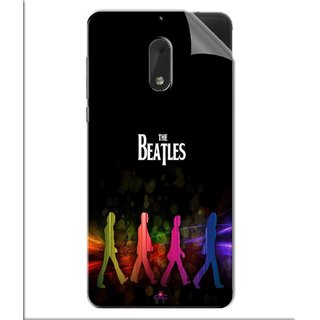 Snooky Printed the beatles Pvc Vinyl Mobile Skin Sticker For Nokia 6